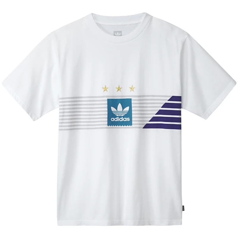 adidas Campeonato T-Shirt White/Greone/Cpurpl