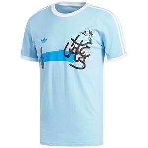 adidas X Helas T-shirt Clear Blue/White