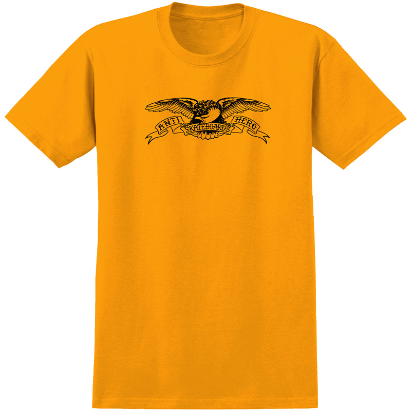 Anti Hero Basic Eagle T-Shirt Gold/Black Print