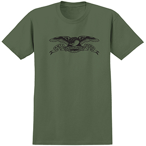 Anti Hero Basic Eagle T-Shirt Military Green/Black