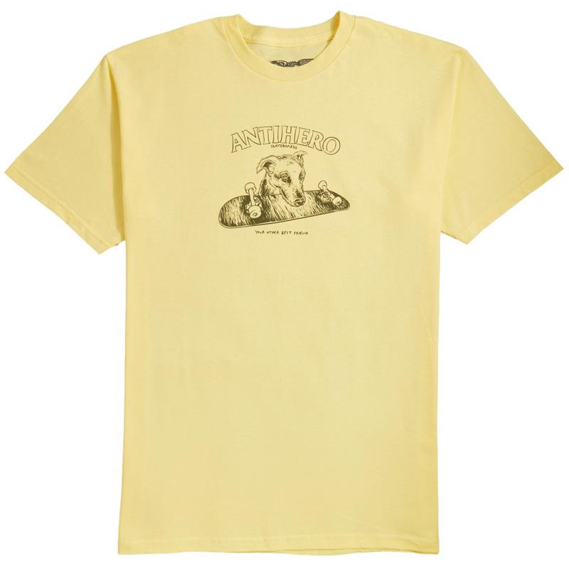Anti Hero Best Friend T-Shirt Banana/Army Green