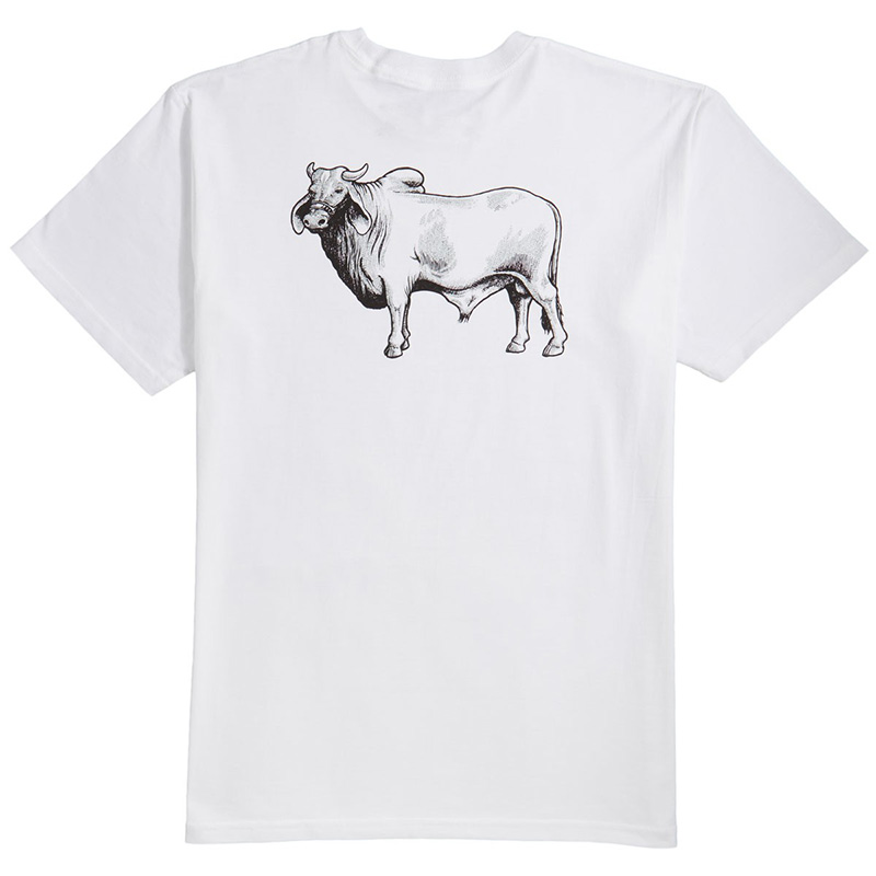Anti Hero Cow Backside T-Shirt White/Black/Red