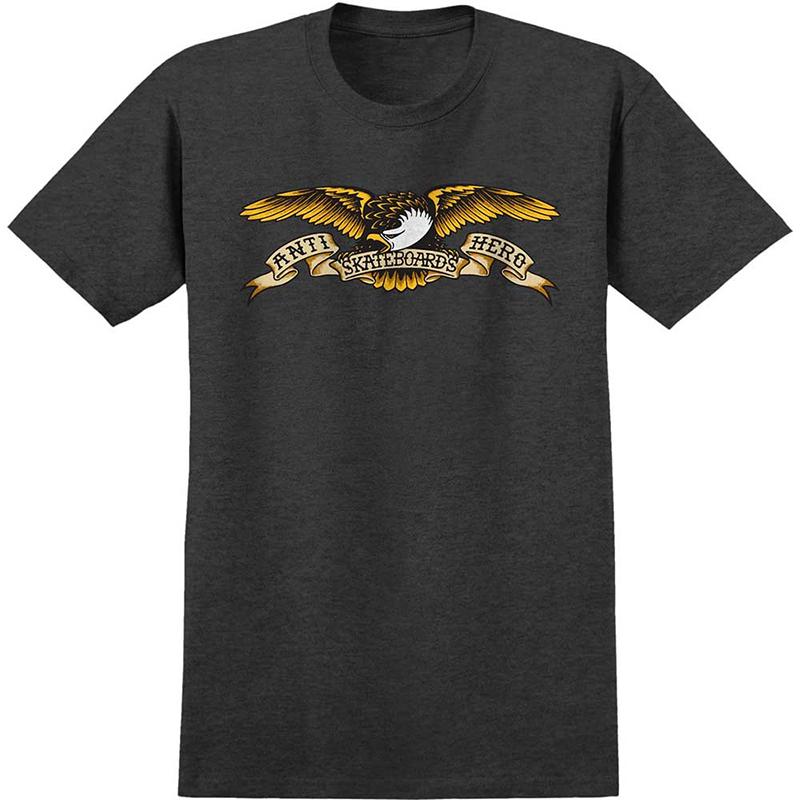 Anti Hero Eagle T-Shirt Charcoal Heather