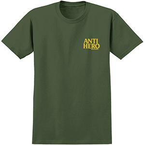 Anti Hero Lil Blackhero T-Shirt Military Green/Yellow