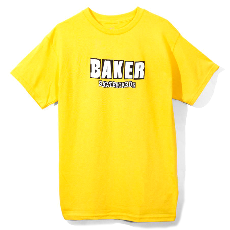 Baker Brand Logo T-Shirt Yellow