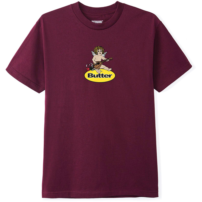 Butter Goods Angel Badge T-Shirt Burgundy