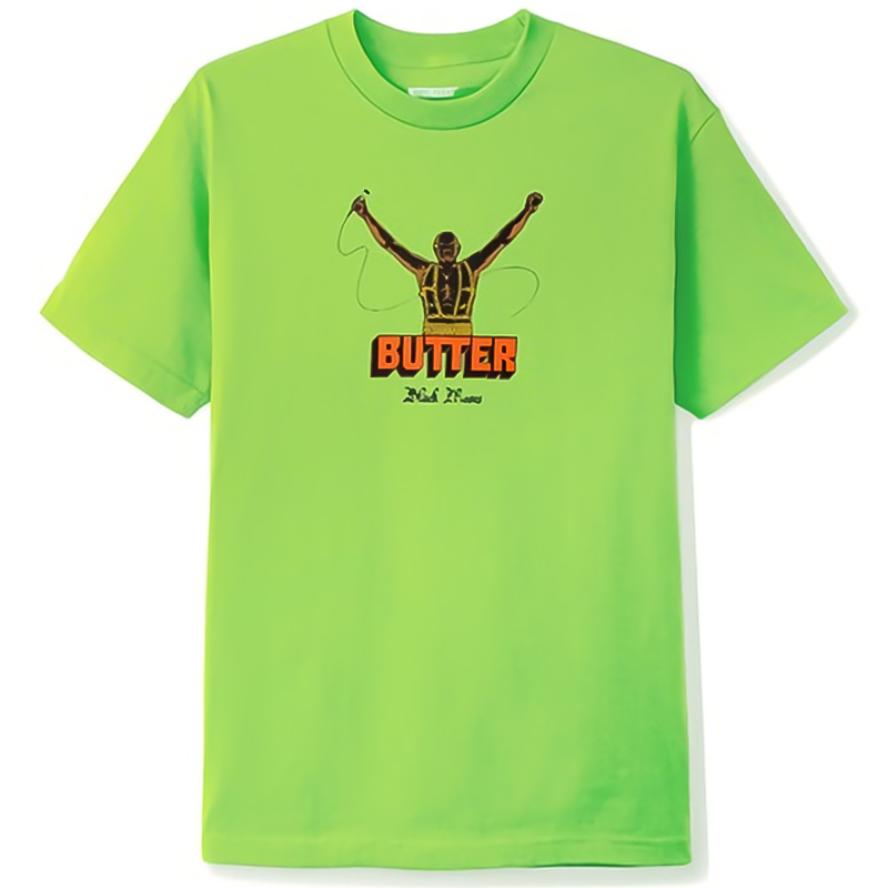 Butter Goods Black Moses T-Shirt Lime