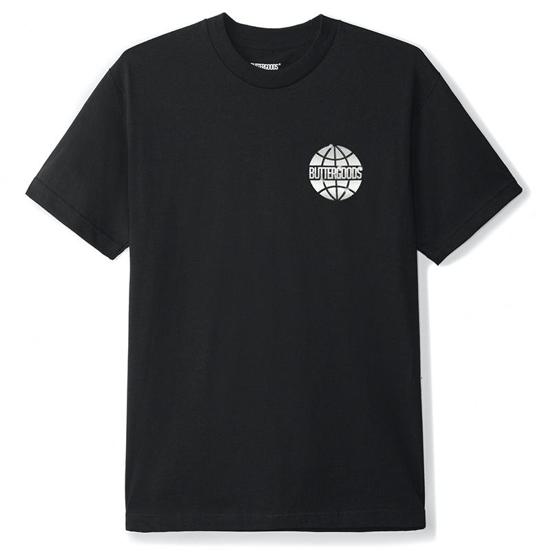 Butter Goods Chrome Worldwide T-Shirt Black