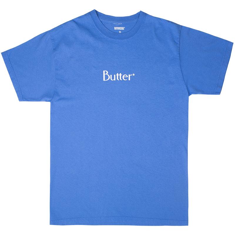 Butter Goods Classic Logo T-Shirt Pigment Dye Lagoon
