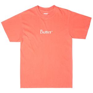 Butter Goods Classic Logo T-Shirt Pigment Dye Melon