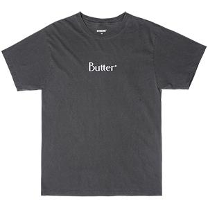 Butter Goods Classic Logo T-Shirt Pigment Dye Vintage Black