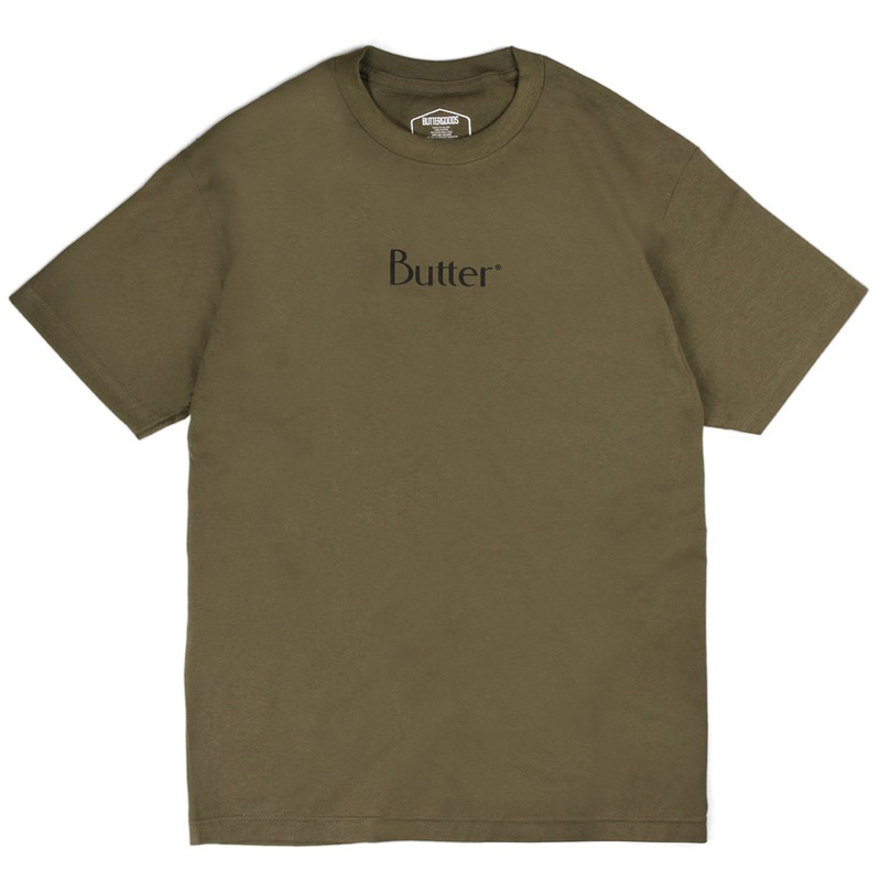 Butter Goods Classic Logo T-Shirt Military Green