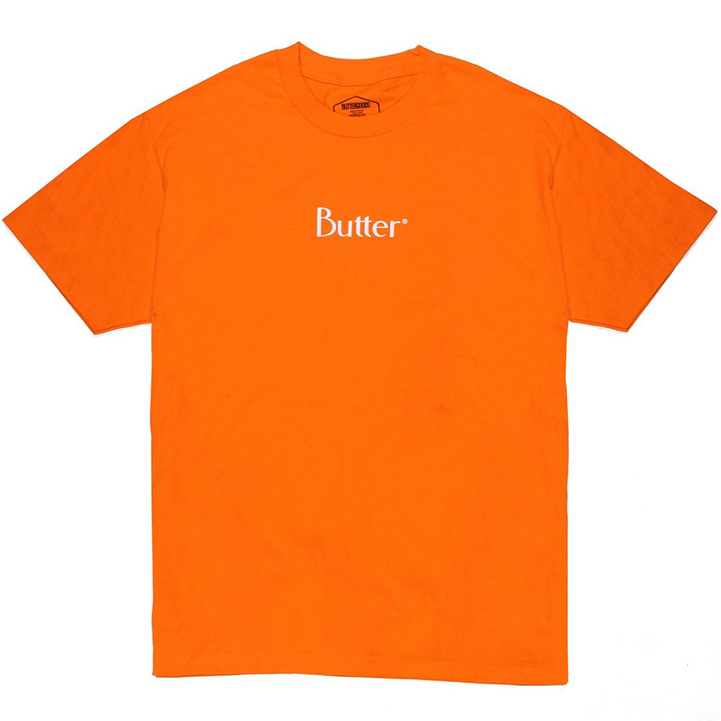 Butter Goods Classic Logo T-Shirt Orange
