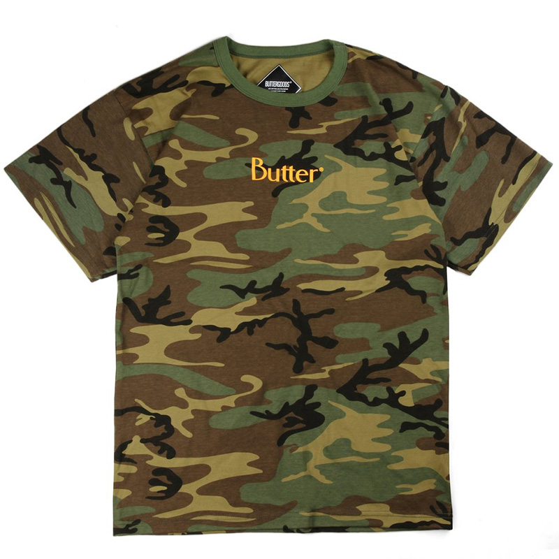Butter Goods Classic Logo T-Shirt Woodlands Camo