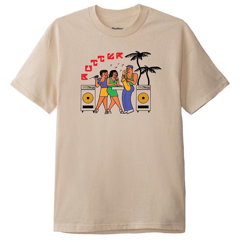 Butter Goods Dance Hall T-Shirt Sand