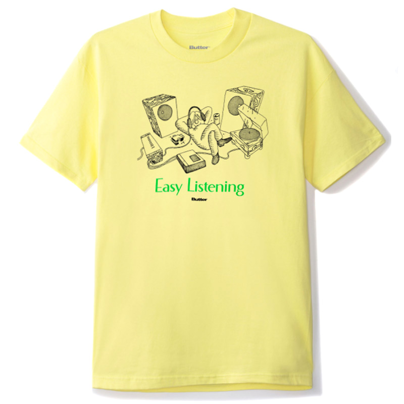 Butter Goods Easy Listening T-Shirt Banana