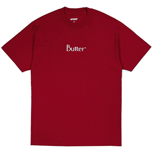 Butter Goods Embroidered Classic Logo T-Shirt Cardinal