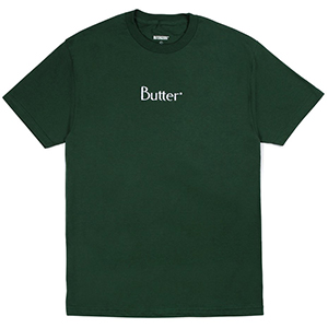 Butter Goods Embroidered Classic Logo T-Shirt Forest
