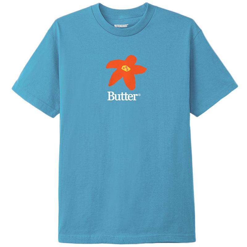 Butter Goods Flowers T-Shirt Carolina Blue