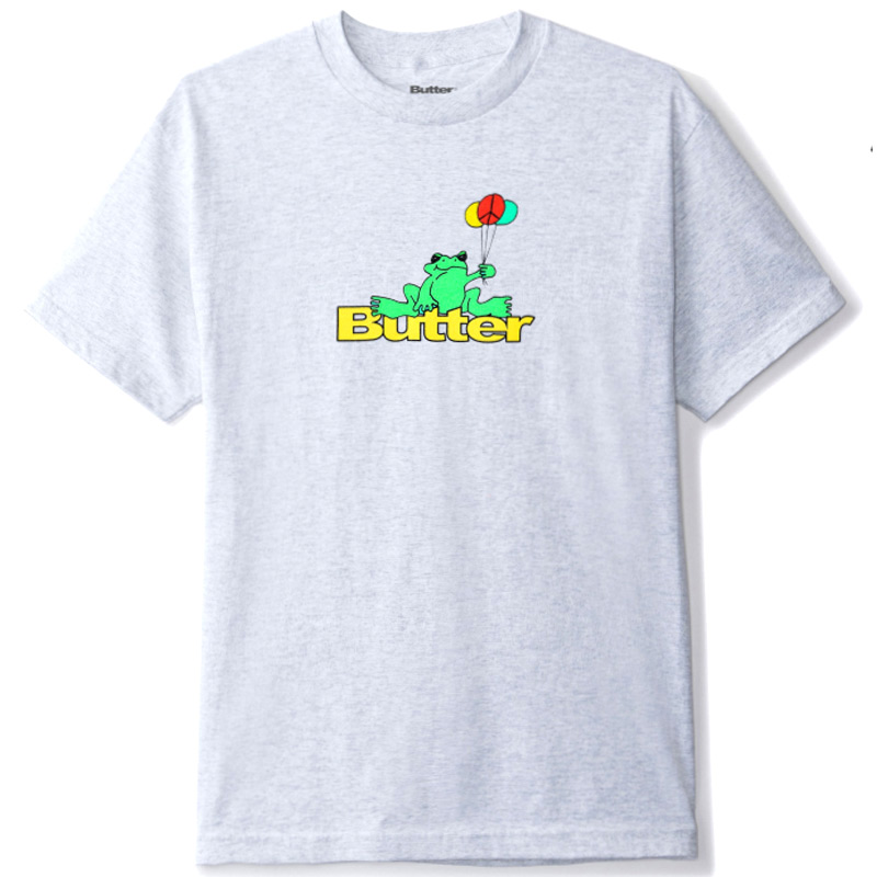 Butter Goods Frog T-Shirt Ash Grey