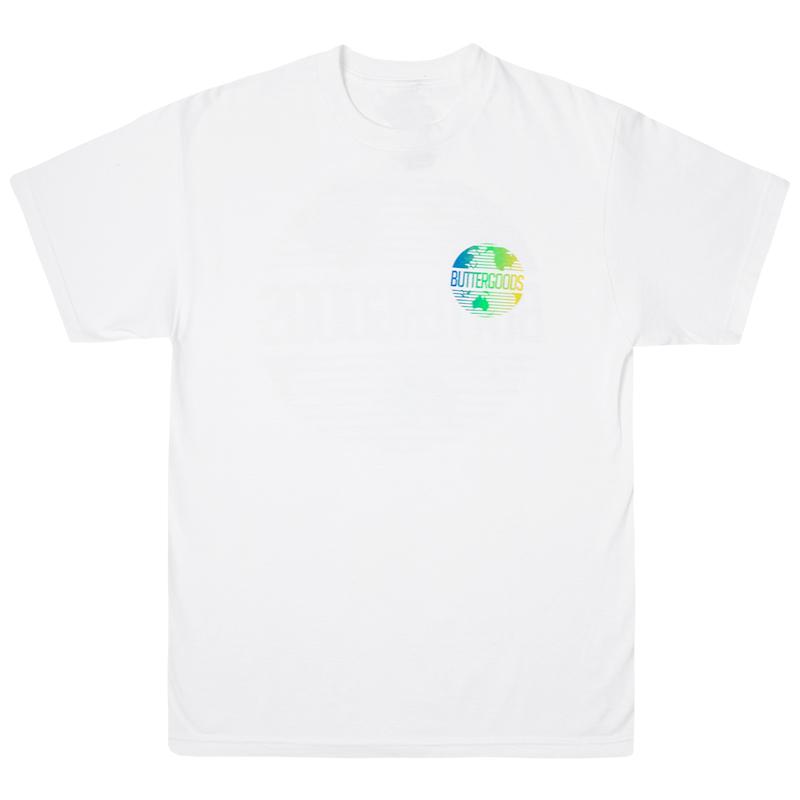 Butter Goods Gradient Worldwide Logo T-Shirt White