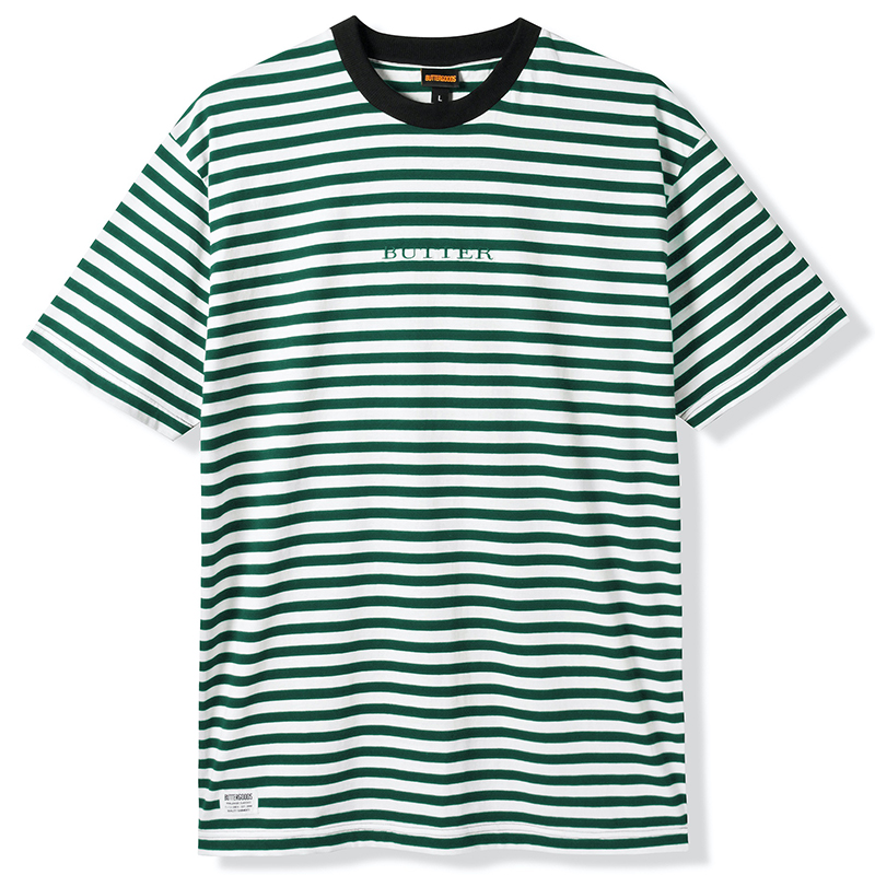Butter Goods Hampshire Stripe T-Shirt Pine