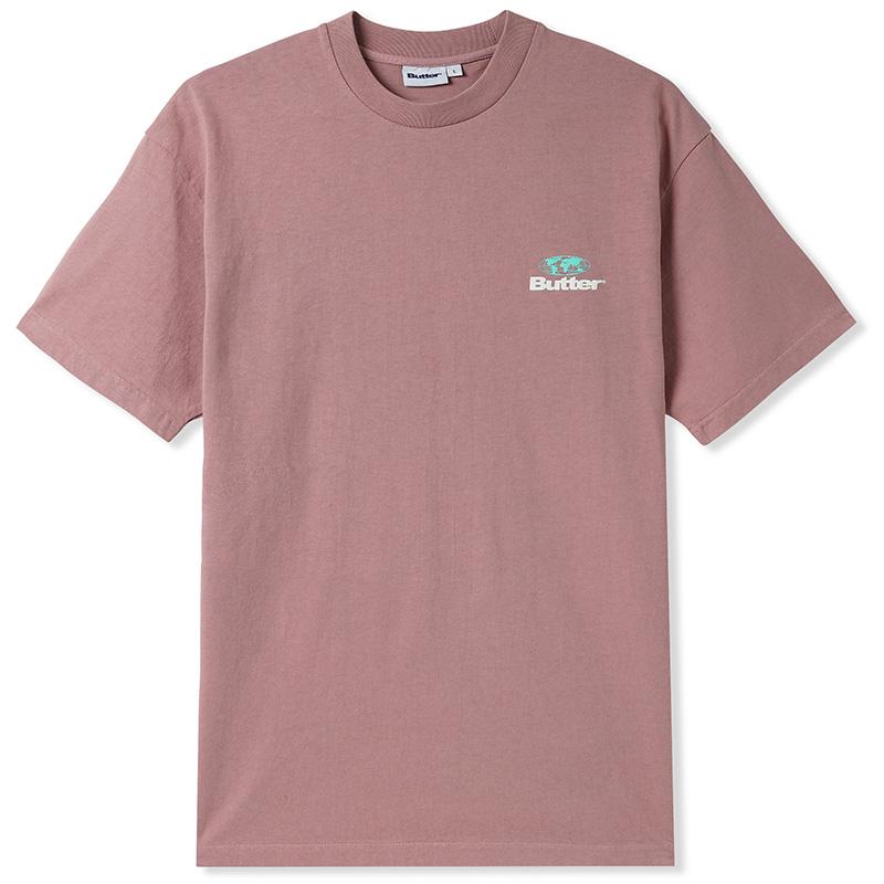 Butter Goods Heavyweight Pigment Dye T-shirt Washed Berry