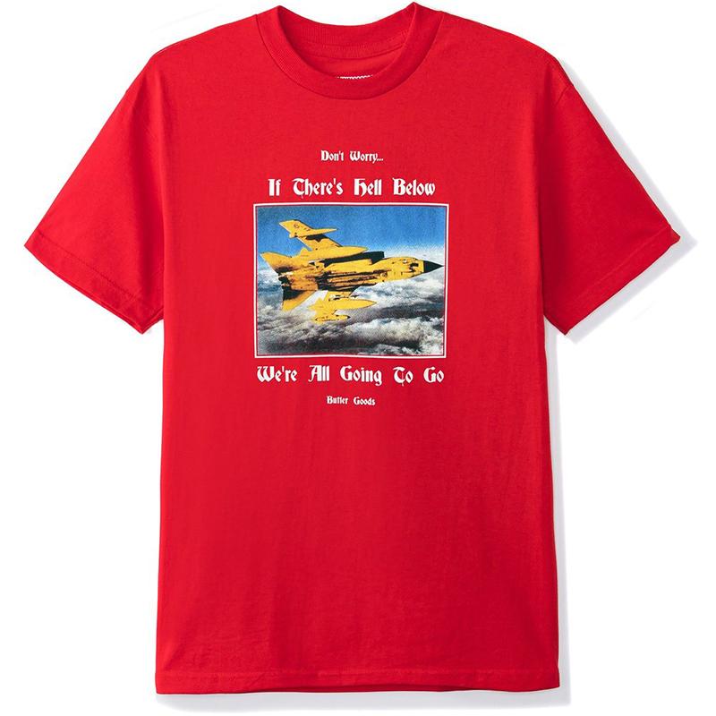 Butter Goods Hell Below T-Shirt Red