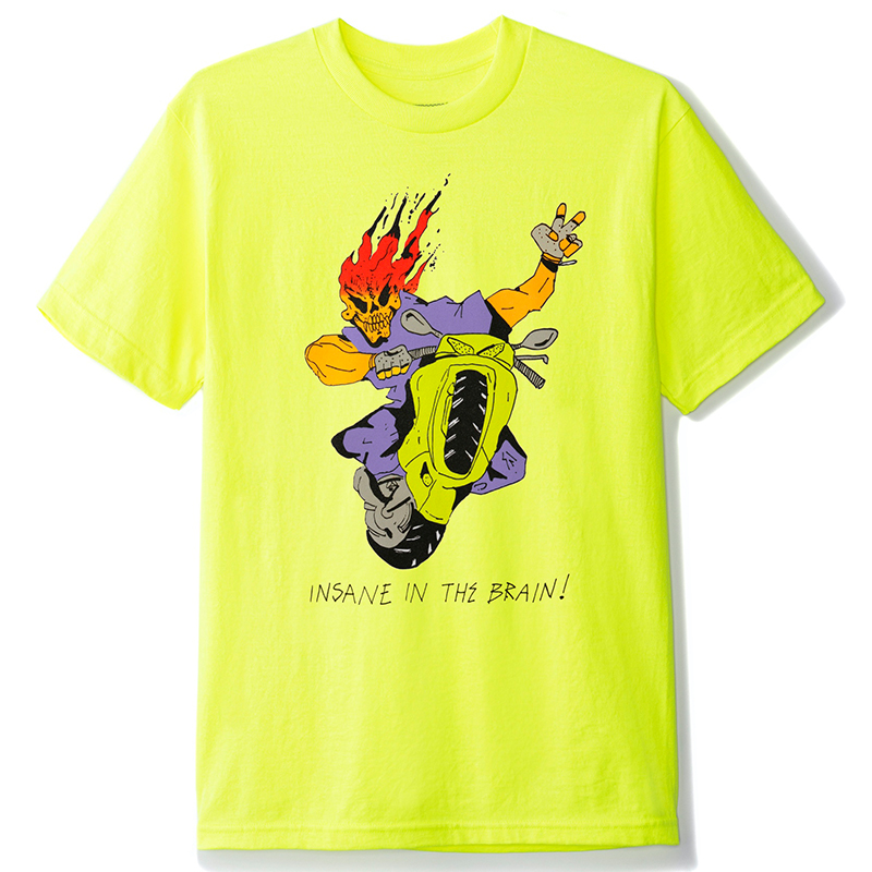 Butter Goods Insane In The Brain T-Shirt Safety Green