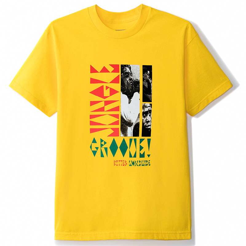 Butter Goods Jungle Groove T-Shirt Yellow