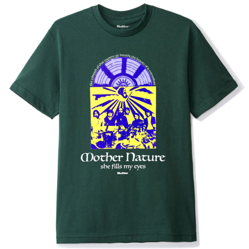 Butter Goods Mother Nature T-Shirt Forest Green