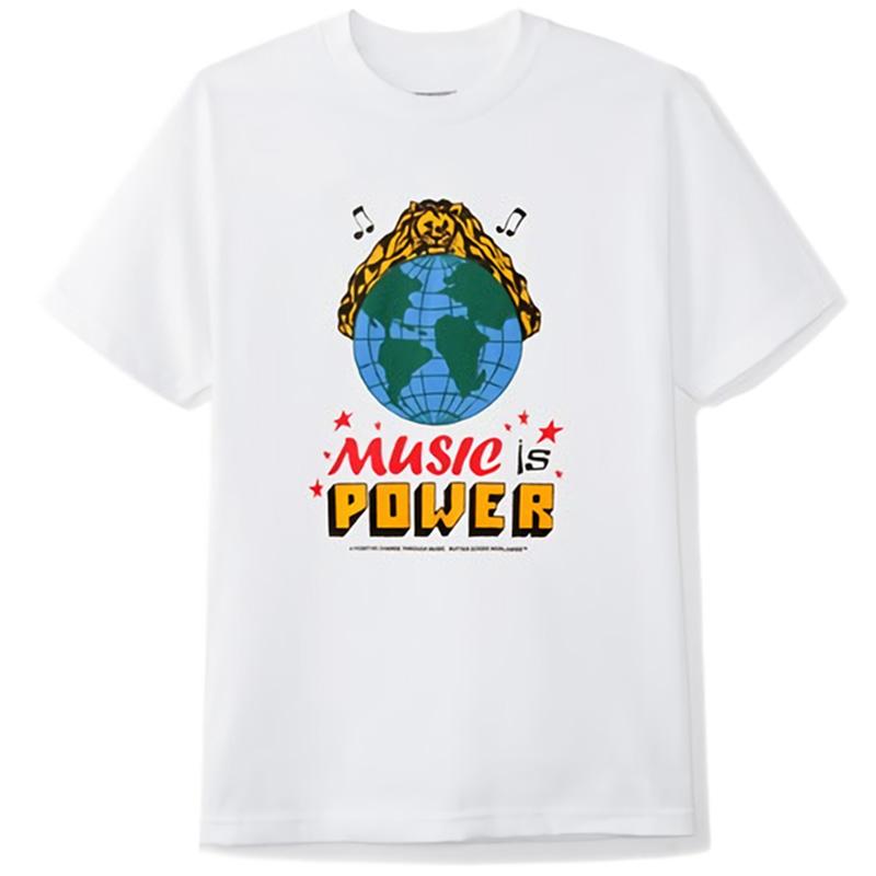 Butter Goods Music Is Power T-Shirt White