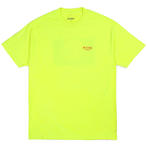 Butter Goods Nuclear War T-Shirt Neon Green