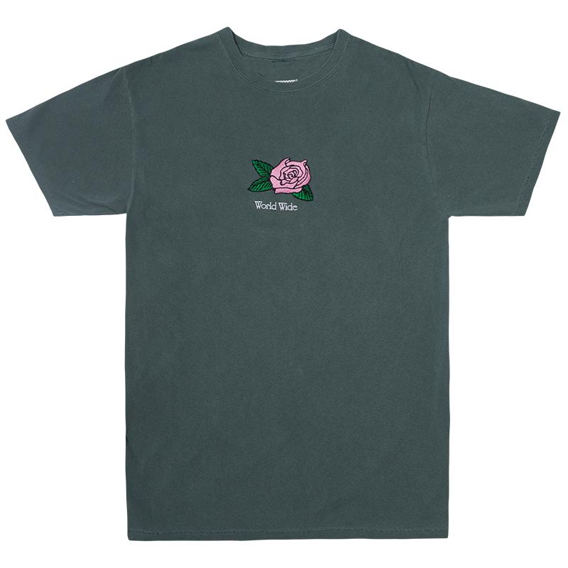 Butter Goods Rosa Pigment Dye T-Shirt Spruce