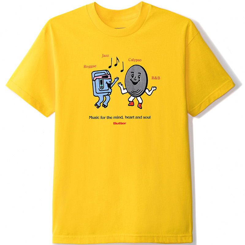 Butter Goods Soul T-Shirt Yellow