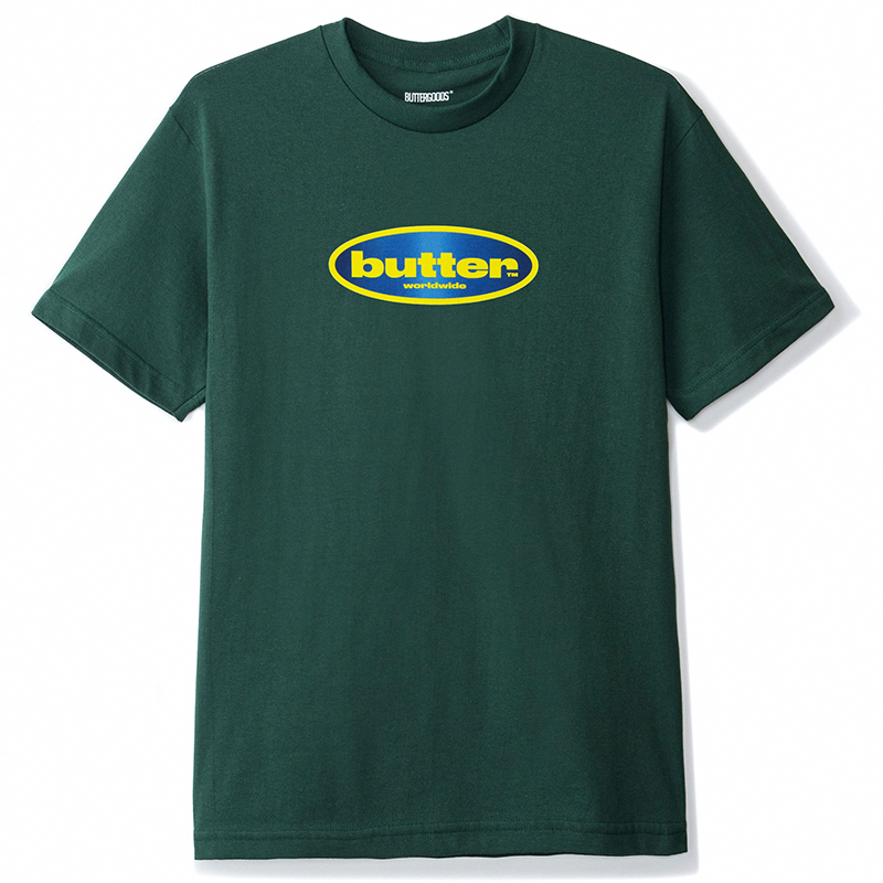 Butter Goods Surf Logo T-Shirt Forest Green