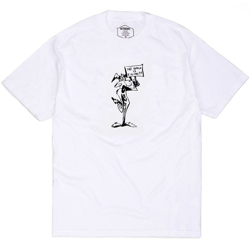 Butter Goods The World is Ending T-Shirt White