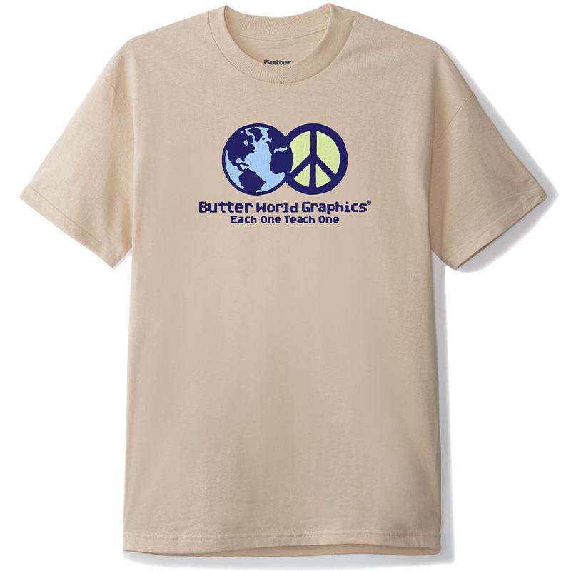 Butter Goods World Peace T-Shirt Sand