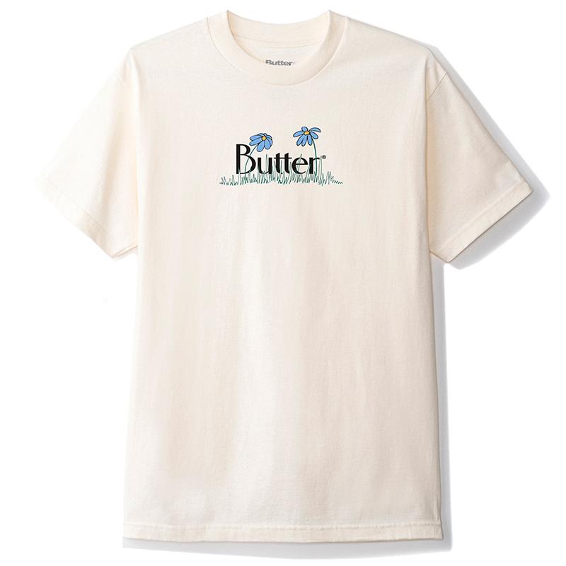 Buttergoods Flowers Classic Logo T-Shirt Cream