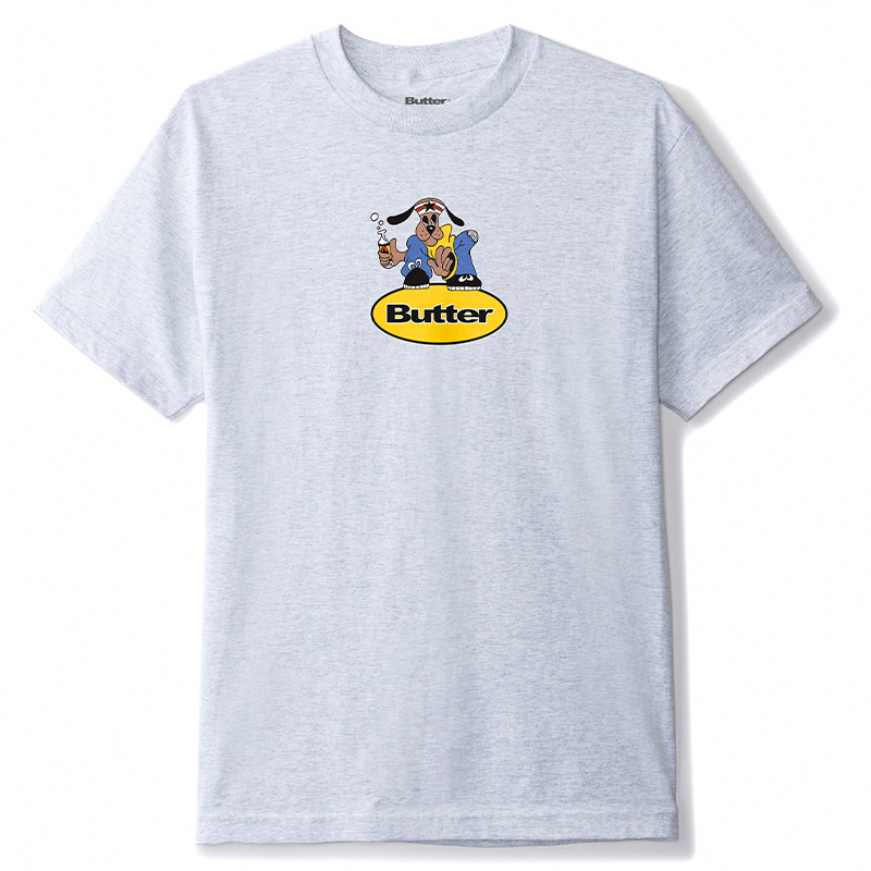 Buttergoods Homeboy Badge T-Shirt Ash Grey