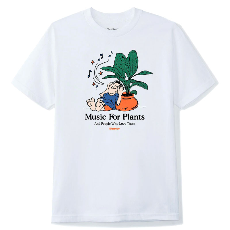 Buttergoods Music For Plants T-Shirt White