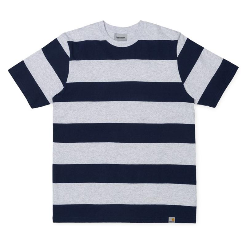 Carhartt  Fisher T-Shirt Fisher Stripe/Ash Heather/Blue