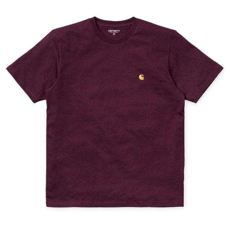 Carhartt Chase T-Shirt Amarone Heather/Gold