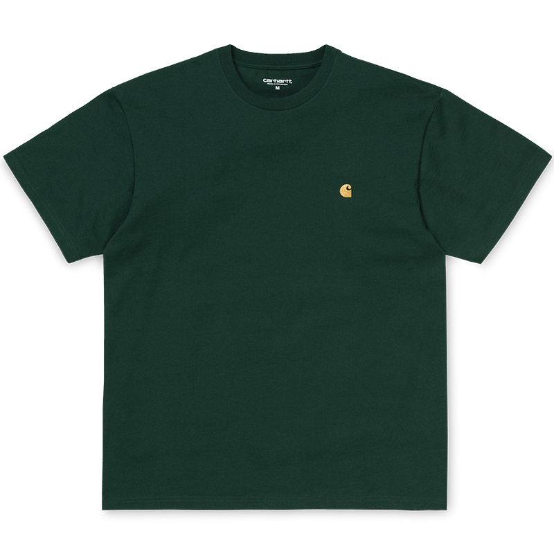 Carhartt WIP Chase T-Shirt Bottle Green/Gold