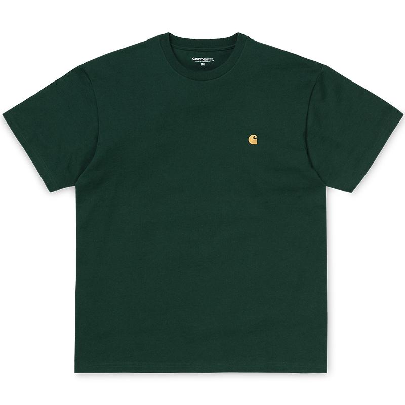 Carhartt Chase T-Shirt Bottle Green/Gold