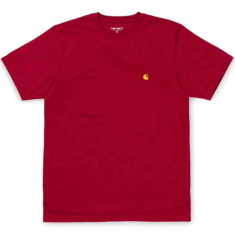 Carhartt WIP Chase T-Shirt Cardinal/Gold