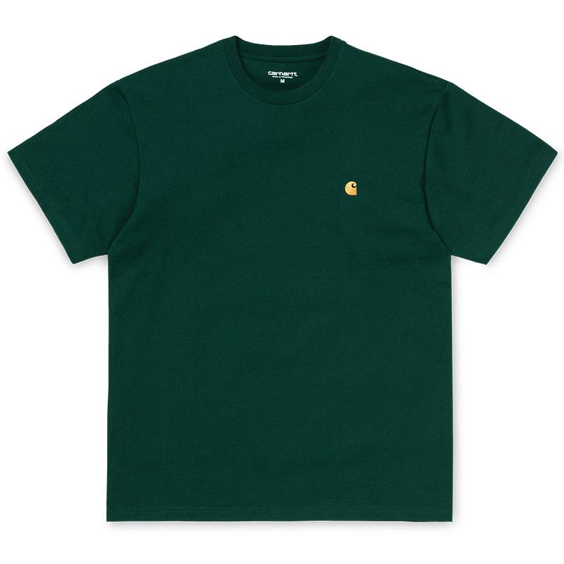 Carhartt Chase T-Shirt Dark Fir/Gold