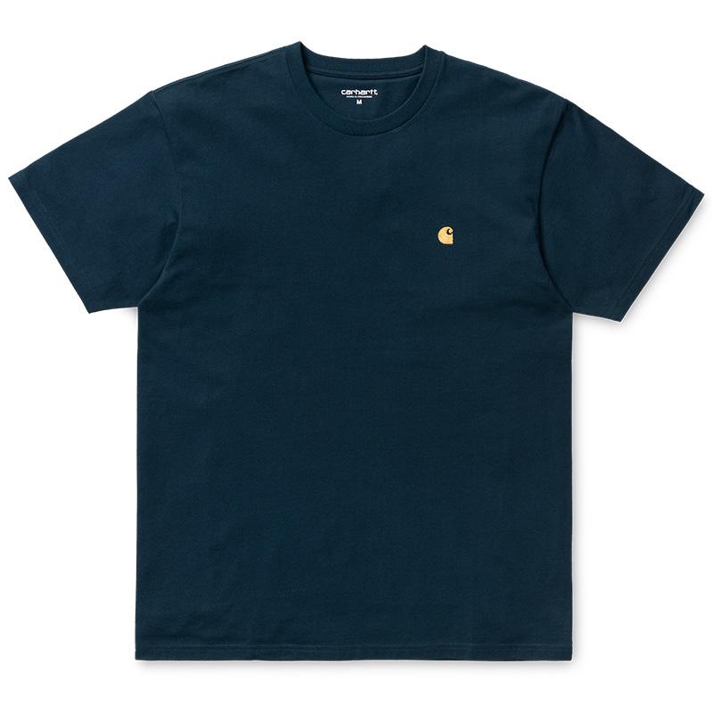 Carhartt WIP Chase T-Shirt Duck Blue/Gold