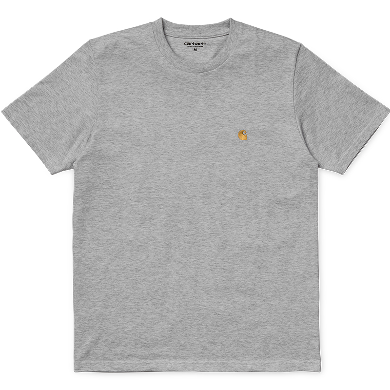 Carhartt Chase T-Shirt Grey Heather/Gold