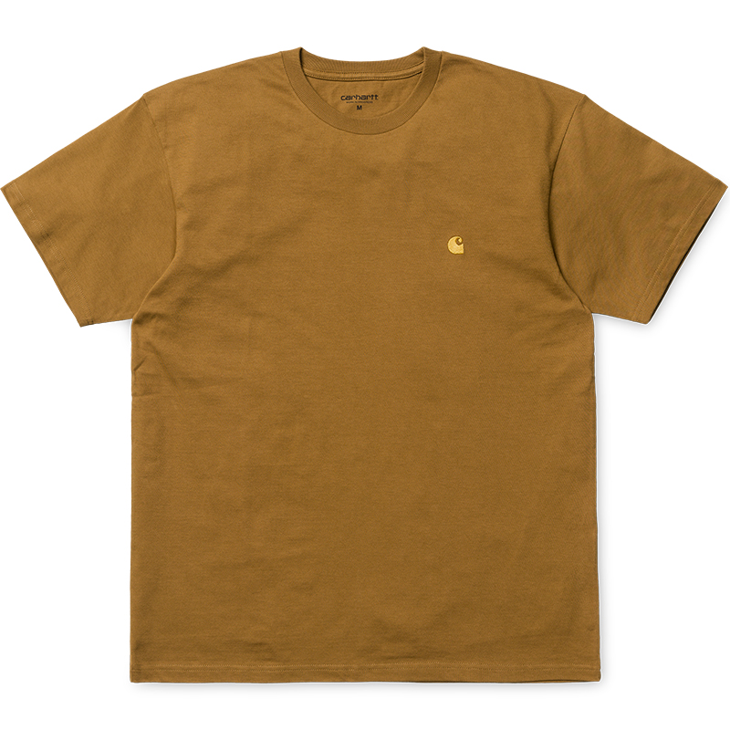 Carhartt WIP Chase T-Shirt Hamilton Brown/Gold